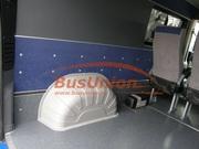 Защита колёсных арок в микроавтобус Фольксваген Крафтер серо