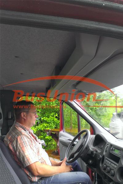 Полка Газель устанавливается над лобовым стеклом автомобиля. Монтаж